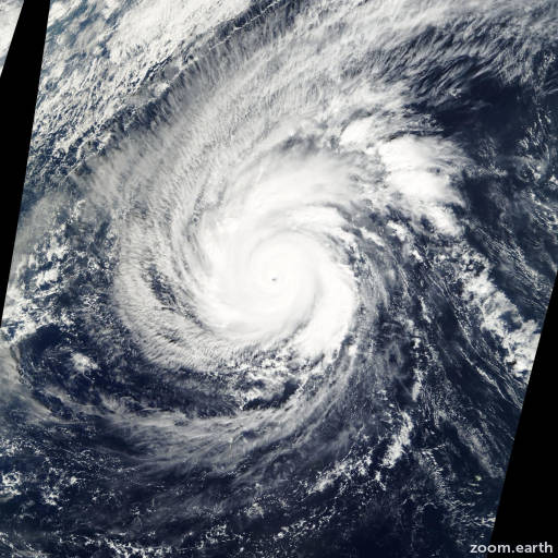 Satellite image of Typhoon Faxai 2001