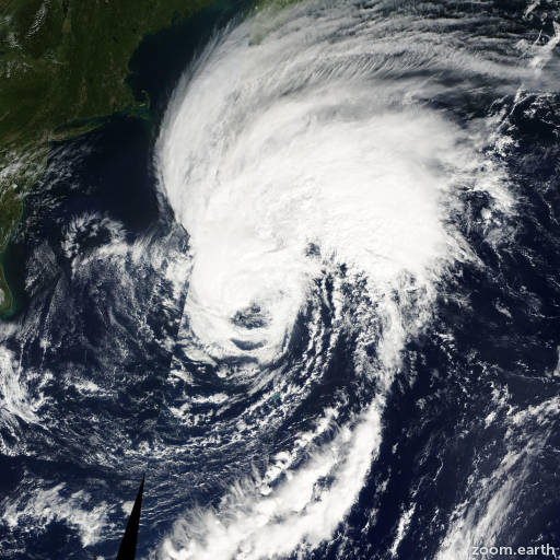 Satellite image of Hurricane Gabrielle 2001