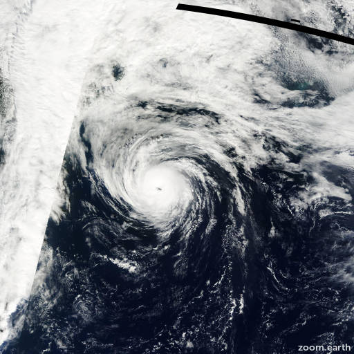 Satellite image of Hurricane Humberto 2001
