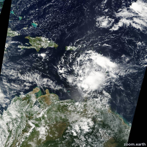 Satellite image of Storm Jerry 2001