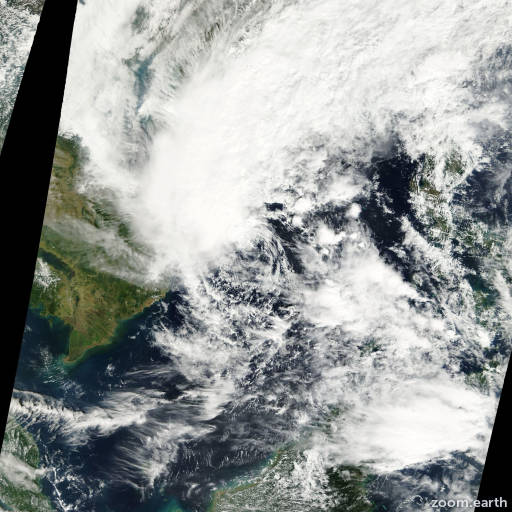 Satellite image of Storm Kajiki 2001