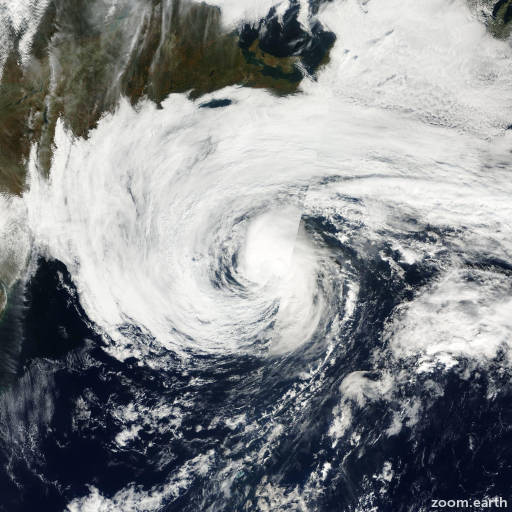 Satellite image of Hurricane Karen 2001
