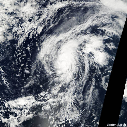 Satellite image of Hurricane Narda 2001