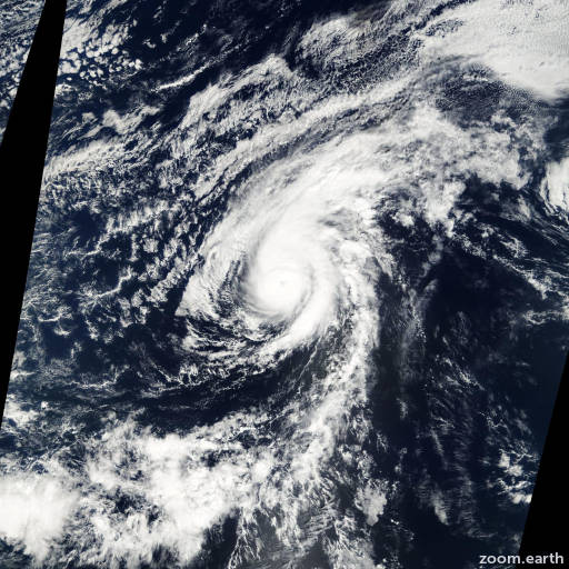 Satellite image of Hurricane Octave 2001