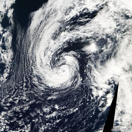 Satellite image of Hurricane Olga 2001