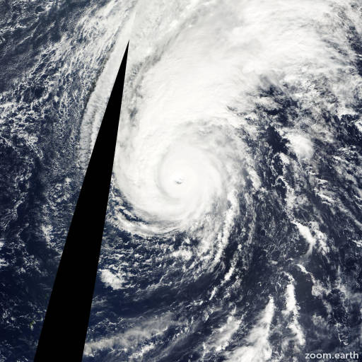 Satellite image of Typhoon Podul 2001