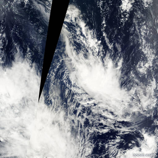 Satellite image of Cyclone Rita 2001