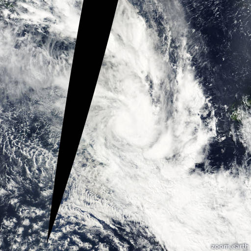 Satellite image of Cyclone Sose 2001