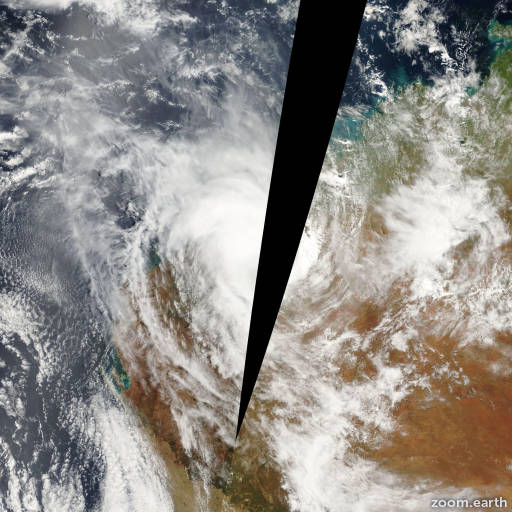 Satellite image of Cyclone Terri 2001