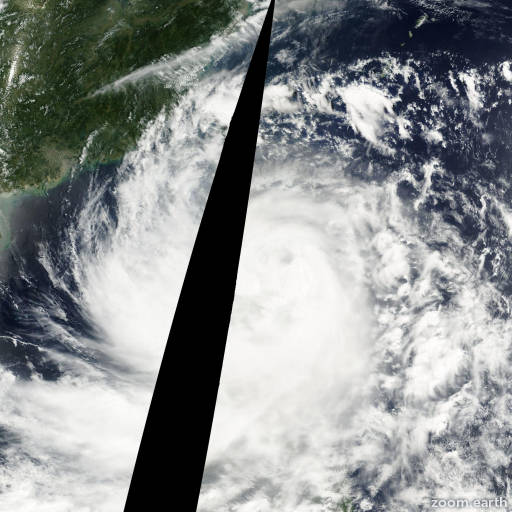 Satellite image of Typhoon Utor 2001