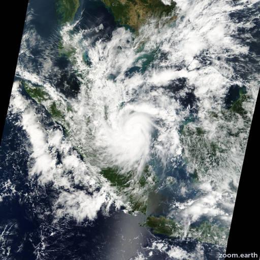 Satellite image of Storm Vamei 2001