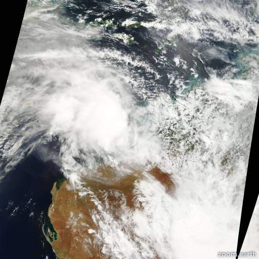 Satellite image of Cyclone Vincent 2001