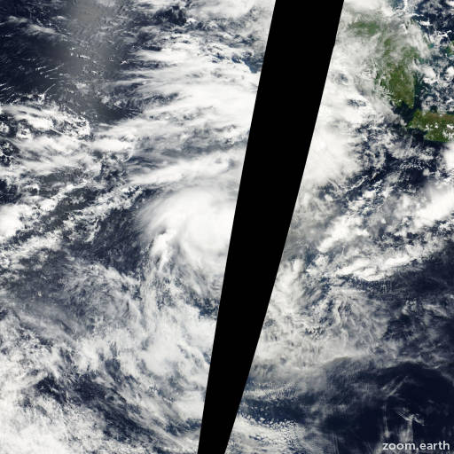 Satellite image of Cyclone Walter 2001