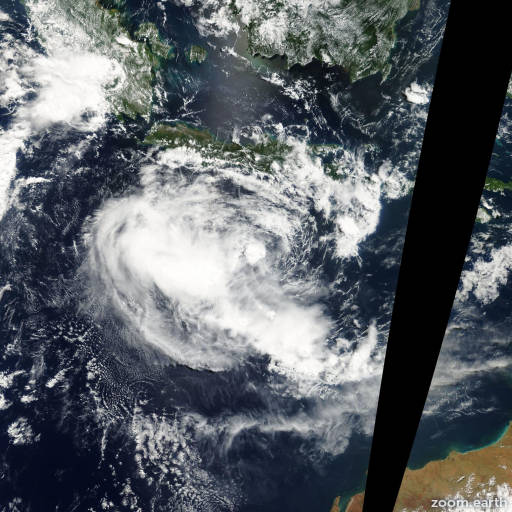 Satellite image of Cyclone Bonnie 2002