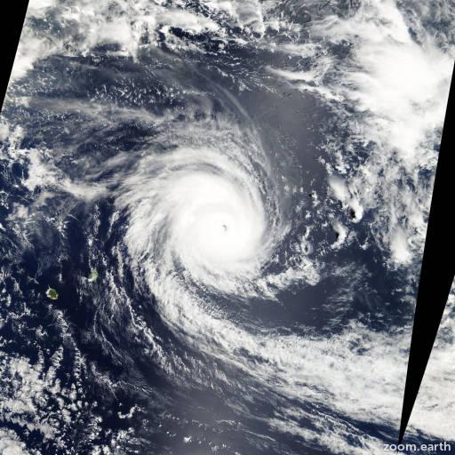 Satellite image of Cyclone Dina 2002