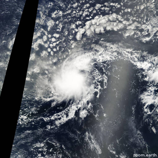 Satellite image of Storm Dolly 2002