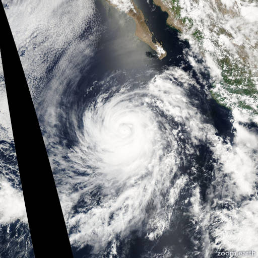 Satellite image of Hurricane Douglas 2002