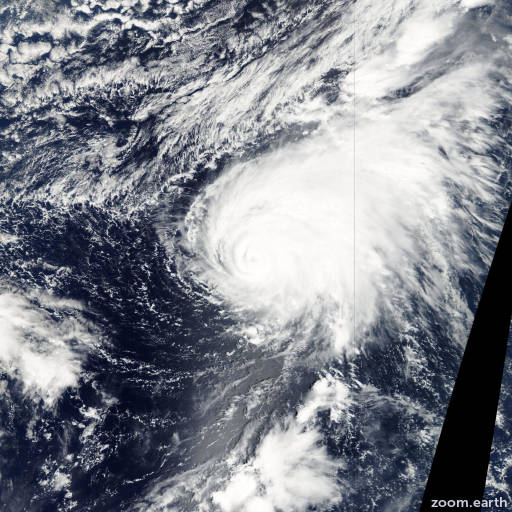 Satellite image of Typhoon Ele 2002