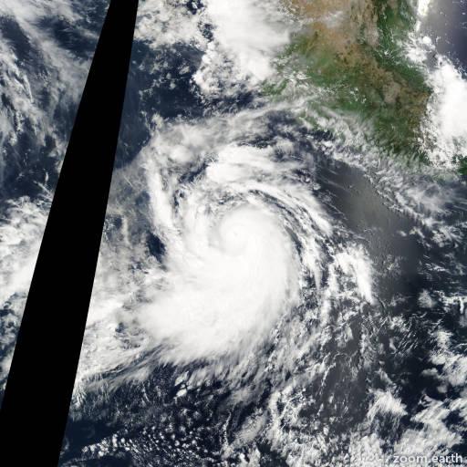 Satellite image of Hurricane Elida 2002