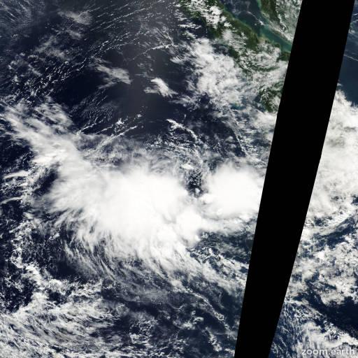 Satellite image of Cyclone Errol 2002