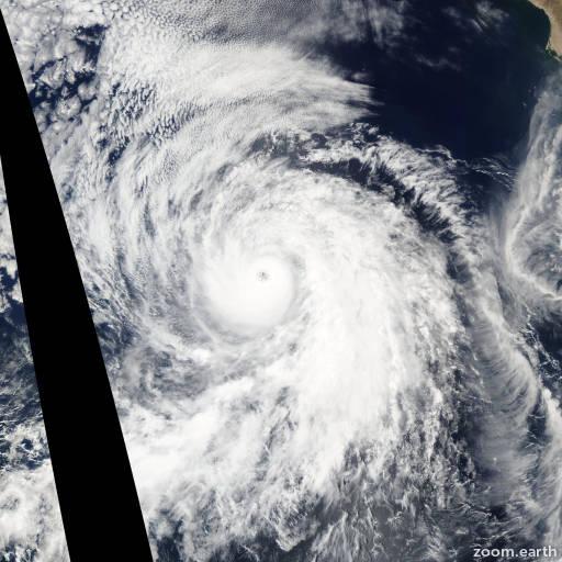 Satellite image of Hurricane Fausto 2002