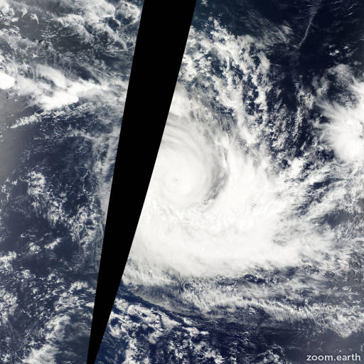 Satellite image of Cyclone Francesca 2002