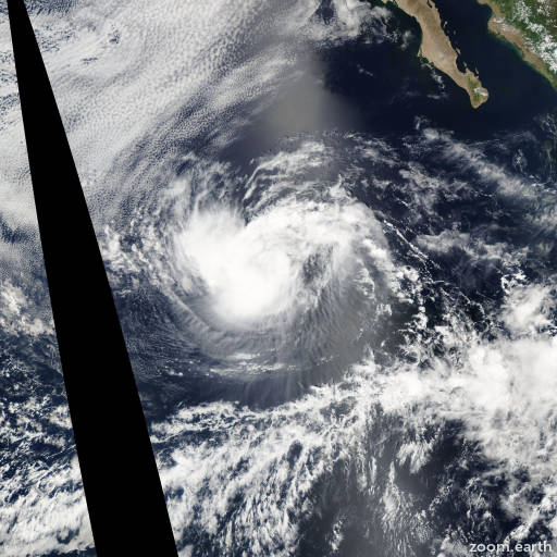 Satellite image of Storm Genevieve 2002