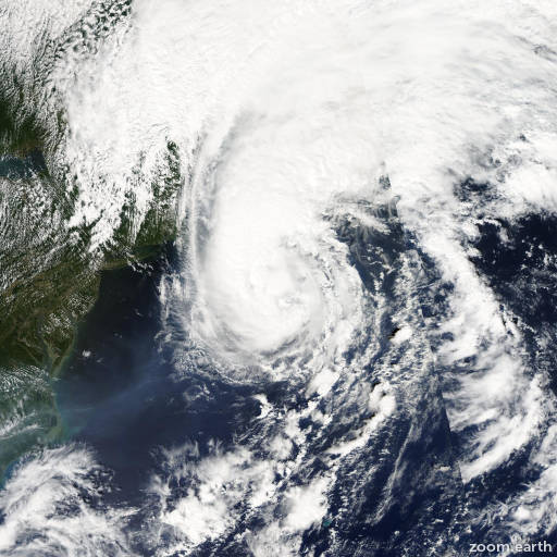 Satellite image of Hurricane Gustav 2002