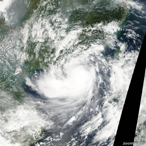 Satellite image of Storm Hagupit 2002