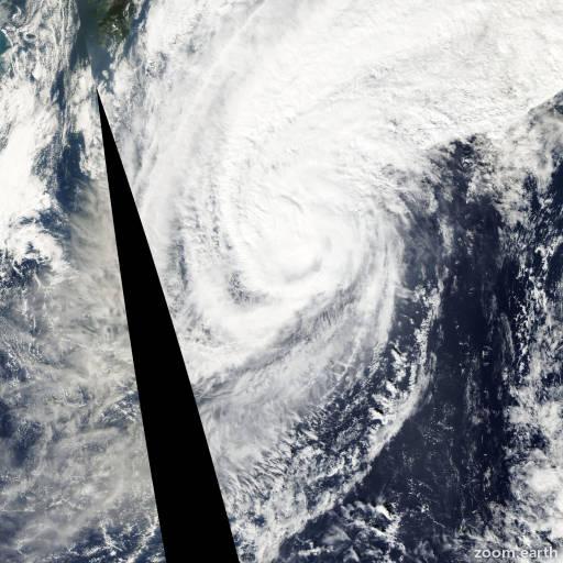 Satellite image of Typhoon Haishen 2002