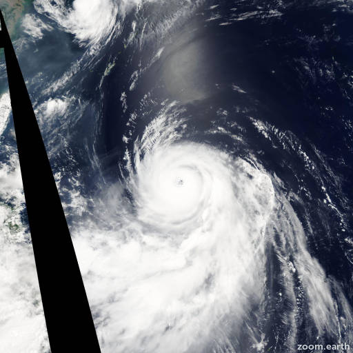 Satellite image of Typhoon Halong 2002
