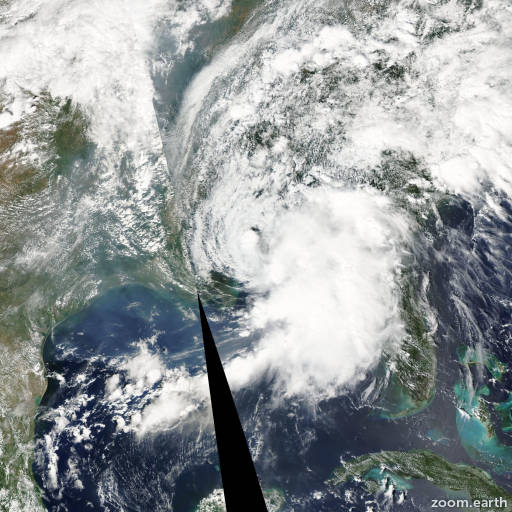 Satellite image of Storm Hanna 2002
