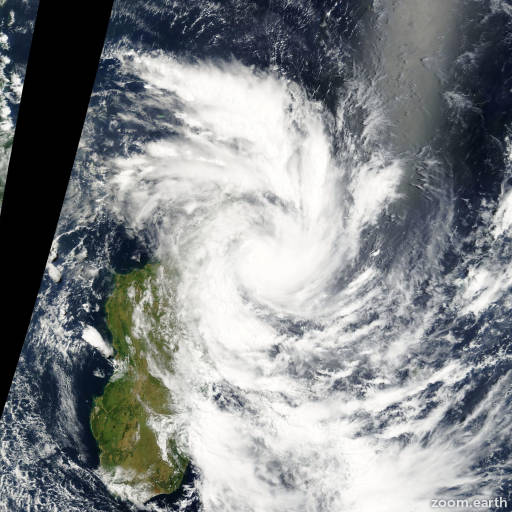 Satellite image of Cyclone Hary 2002