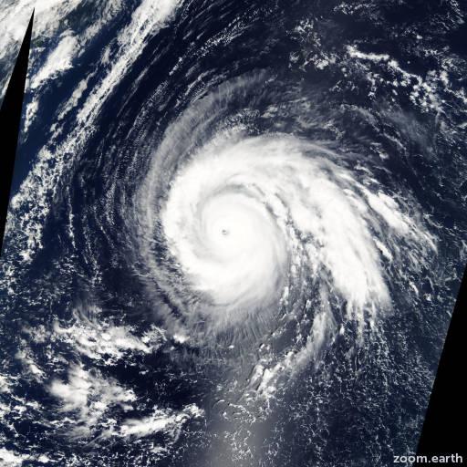 Satellite image of Typhoon Higos 2002