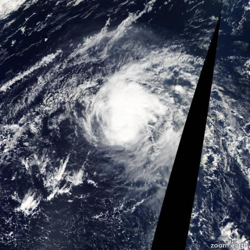 Satellite image of Typhoon Huko 2002