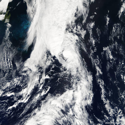 Satellite image of Storm Josephine 2002