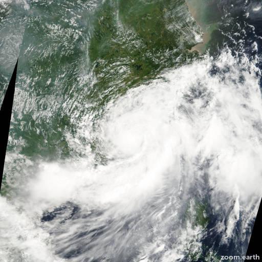 Satellite image of Storm Kammuri 2002