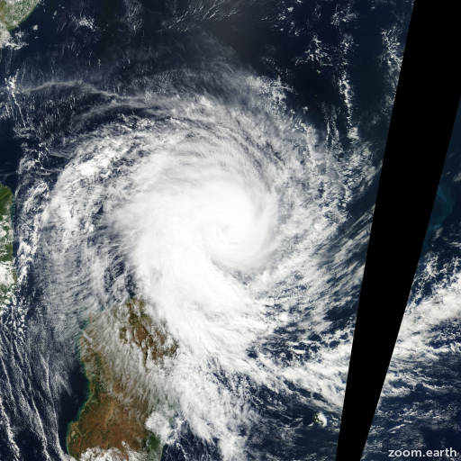 Satellite image of Storm Kesiny 2002