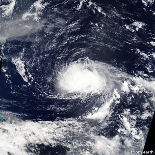Satellite image of Hurricane Kyle 2002