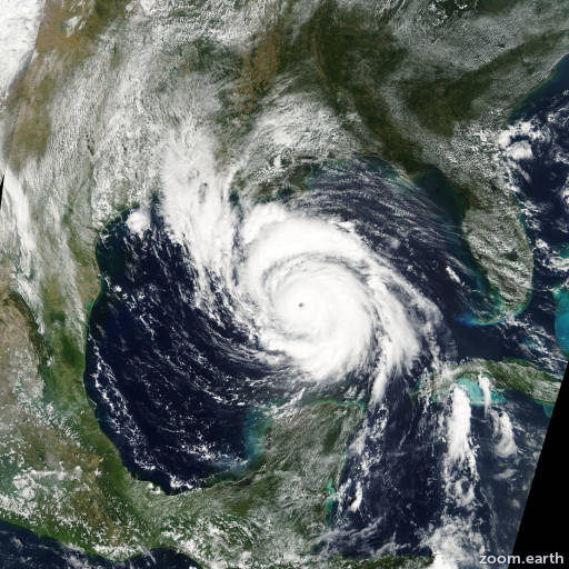 Satellite image of Hurricane Lili 2002
