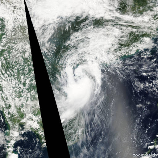 Satellite image of Storm Mekkhala 2002
