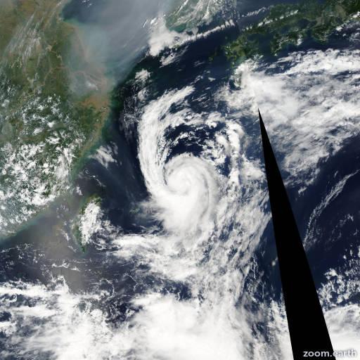 Satellite image of Storm Nakri 2002