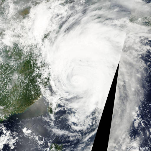 Satellite image of Typhoon Rammasun 2002