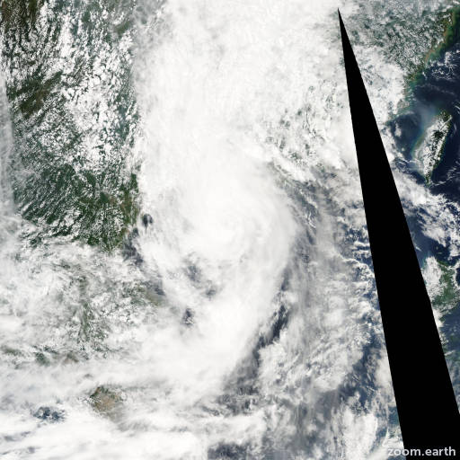 Satellite image of Storm Vongfong 2002