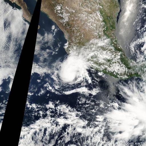 Satellite image of Storm Blanca 2003