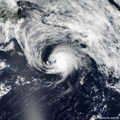 Satellite image of Hurricane Danny 2003
