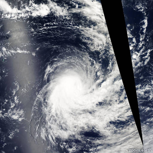 Satellite image of Storm Ebula 2003