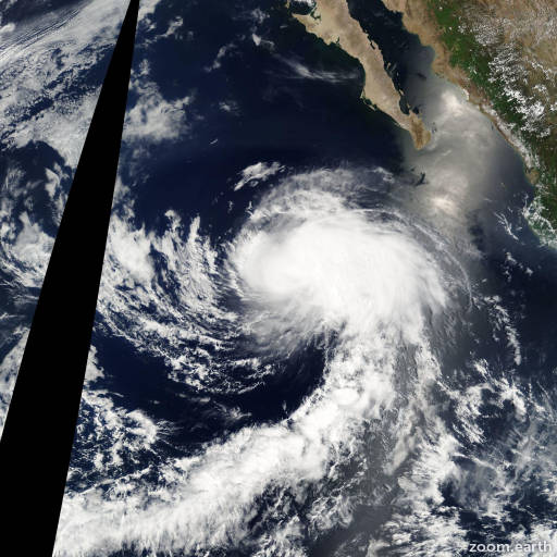 Satellite image of Storm Enrique 2003