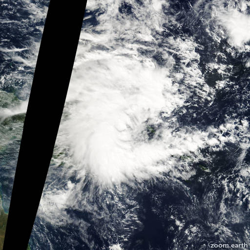 Satellite image of Cyclone Epi 2003