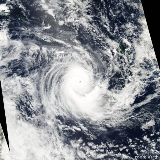 Satellite image of Cyclone Erica 2003